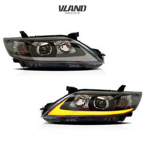 VLAND LED Headlighs Fits For Toyota Camry 2010-2011 LED DRL Headlights
