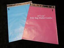 "20 POLY BAG MAILER SHIPPING ENVELOPES BOUTIQUE COLOR COMBO 10""x13"" PINK & BLUE"