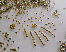 2500pcs 3D Gold Round Metal Stud Shiny Nail Art Body Decoration 2mm (8.grams)