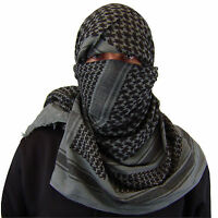 Shemagh Military Army Cotton Heavyweight Arab Tactical Desert Keffiyeh Scarf GRY