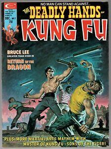 Deadly Hands of Kung Fu #7 Marvel Magazine Bruce Lee Earl Norem Shang-Chi 1974