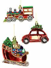 Gisela Graham Train Sleigh Car Christmas Tree Decoration Xmas Hanging Vehicle