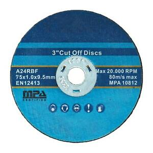 """25pc 75MM 3"""" CUTTING DISC DISK AIR DIE GRINDER CUT OFF TOOL WHEEL"""