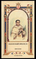 santino-holy card S.D. AMANCIO MARIN MINGUEZ M.  mercedario
