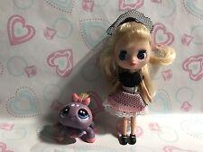 Littlest Pet Shop Blythe Doll B3 W/ Pet Spider Sooo Cute!!!