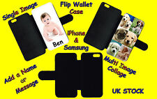 PERSONALISED CUSTOM PRINTED Flip Wallet Phone Case Cover Collage photo pictures
