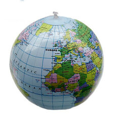 Beach Ball Education Teaching Geography Toy 40CM Inflatable Globe Earth Map GO9