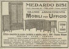 W3398 Mobili per ufficio MEDARDO BISI - Pubblicità 1930 - Advertising