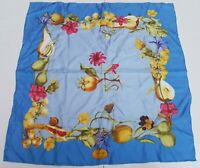 Foulard Gucci carrè scarf frutta fruit 100% silk pura seta original handmade ita