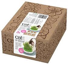Catit Cat Grass Kit Senses 2.0 Katzengras-Saatgut Katzenminze 3 x 127 g 3er Pack