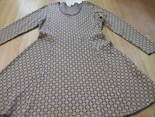 BODEN   gold sparkle Glamorous Knitted dress size  12 LONG     WH690