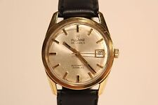 "VINTAGE GOLD PLATED SWISS MEN'S AUTOMATIC WATCH""ALLAINE"" 25 J./ETA. CAL.2773"