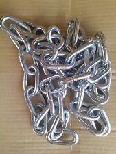 Galvanized Steel Chain size 10mm, 2 meter 2M long, link width lock shackle 22mm
