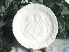 Fenton SALE 1974 MOTHERS DAY Plate Madonna & Child:THE MADONNA of the GROTTO wht