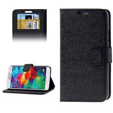 Look Cuir Etui Samsung Galaxy S5 Étui À Clapet Flip Case Noir
