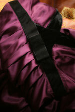 BANANA REPUBLIC Purple SILK Black VELVET  Cocktail Dress Special Occasion 0 NWOT