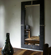 Large Reclaimed industrial natural Slate Mirror
