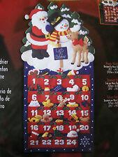 Christmas Bucilla Felt ADVENT CALENDAR Craft Kit,HAPPY HOLIDAYS,Ornaments,84603