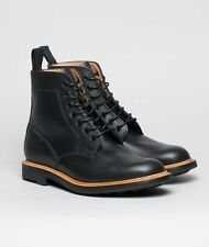 MARK MCNAIRY MADE IN ENGLAND BLACK WAXY DERBY BOOTS SIZE UK 11 US 12