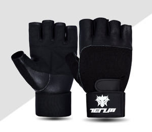 Gym Workout Best Weight Lifting Body Building Training Fitness Gloves with Strap