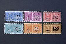 WWII German Troisième Reich RKB recettes cotisations 6 timbres neuf sans charnière **