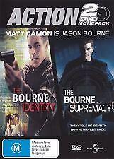 THE BOURNE IDENTITY + BOURNE SUPREMACY - BRAND NEW/SEALED 2-DISC DVD, MATT DAMON