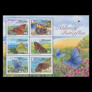 alderney ca 2008 papillon butterfly mariposas farfalle Schmetterling ms 6v mnh