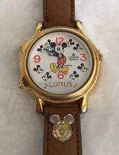 Vintage Mickey Mouse Watch  Lorus Quartz V422-0010 ZO Mov't Two Musical Disney