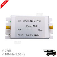 10MHz-1.5GHz Broadband RF Power Amplifier 32dB Gain 27dBm Shielded Output