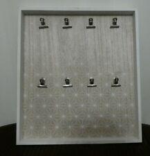 🌸 Memo Board 🌸 White Bulldog Paper Clip Notice / Photo Board Square Wall