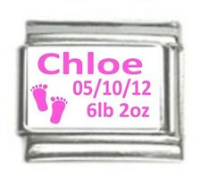 Italian Charms Custom Made Baby Girl with Feet