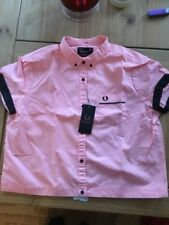 BNWT AMY WINEHOUSE FRED PERRY ROSA Bowling Camicia Taglia 16