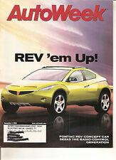 Autoweek Dec 4, 2000 - Pontiac Rev - Volkswagen Beetle 1.8T - Audi S4 Avant S8