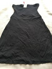 SPANX Lust Have Med Control BLACK Mid Knee Length Slip Skirt 2327 Womens Sz XL