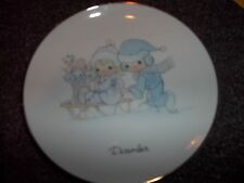 Vintage 1983 Precious Moments Collectible Plate DECEMBER Birthday Calender