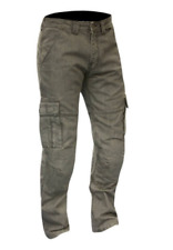 Route One Portland CE Cargo Mens Motorcycle Motorbike Slate Grey Jeans Regular