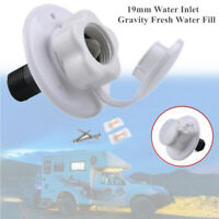 19mm Water Inlet Valve Hatch Gravity Fresh Water Fill For Car RV Camper Trailer