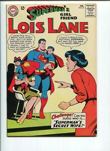 SUPERMAN'S GIRLFRIEND LOIS LANE #55    9.4  NM  WHITE PAGES!  TAKE A LOOK!