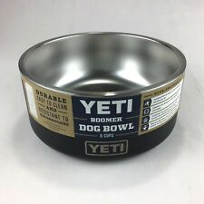 Yeti Boomer Heavy Duty Dog Bowl Dish 8 Cups (Black) Stainless Steel Rubber Base