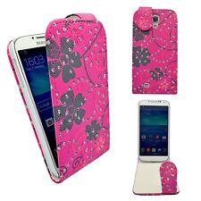 Funda para samsung Galaxy S4 Mini Purpurina Plegable PU Cuero Flor Remolino