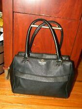 Kate Spade Grant Park Satchel Shoulder Bag Black Handbag Pebbled Alida Purse