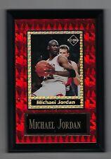 "Vintage 1994-1995 6.5"" x 4.5"" Card Plaque Michael Jordan Bulls Investor Focus #4"
