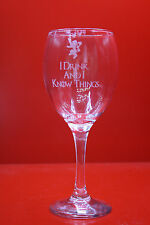 Laser Engraved Wine Glass Game Of Thrones I Drink And I Know Things Lion Tyrion