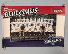NJ LAKEWOOD BLUE CLAWS  BASEBALL TEAM POSTER MLB PLAYERS THAT MOVED TO  MAJORS