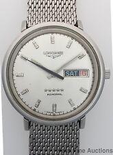 Vintage Genuine Longines Admiral Day Date Mens Wrist Watch