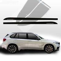 2pcs M Performance Side Skirt Stripe 5D Carbon Fiber Sticker for BMW F15 X5 SUV