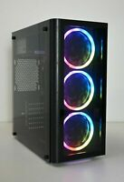 BUDGET RGB GAMING PC Quad i5 CPU 8 GB RAM SSD HDD 1GB DDR3 GFX Windows 10 Wifi