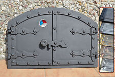535 x 358mm +Thermometer Cast iron fire door clay / bread oven / pizza stove