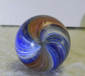 #13990m Vintage German Handmade Onionskin Marble .78 Inches