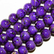 MAGNETIC HEMATITE BEADS PICASSO PURPLE PINK GREEN WHITE MIX COLORS 6MM MP4